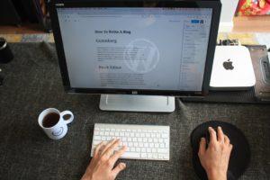 WordPress's new Gutenberg blog post editor.